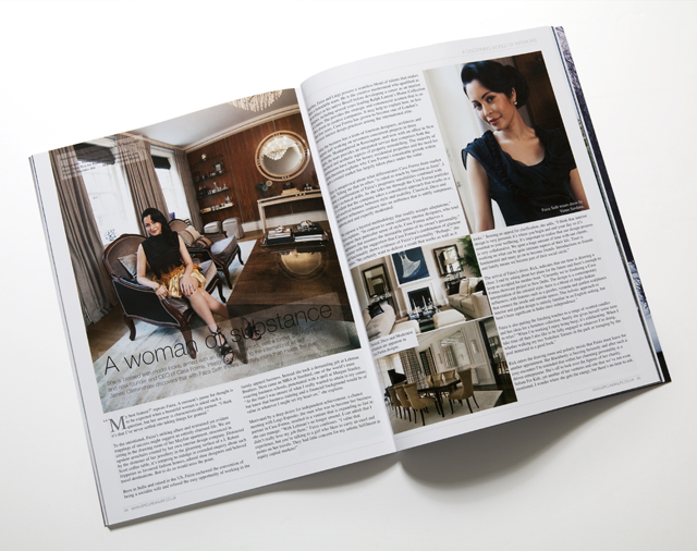 Image of a spread in Epicurean Life Magazine, Article and repro Photography by Studio Erameri