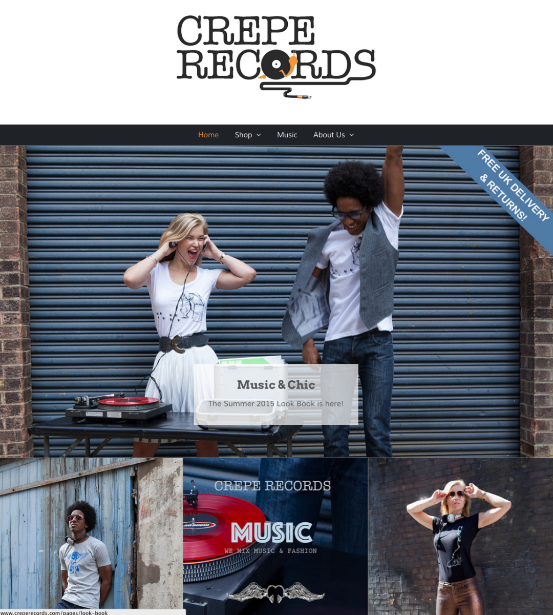 Crepe Records homepage screenshot August 2015