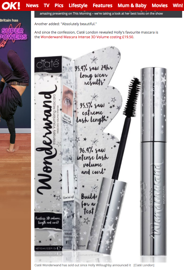 metallic packaging packshot photograph of mascara wand open with closed product and packaging